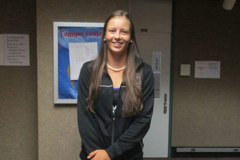 Marina Hruba, one of the tennis players for the Rainbow Wahines is a current sophomore at UH Manoa