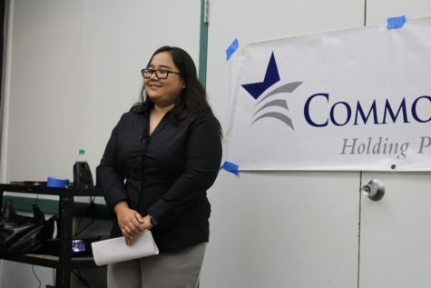 Corie Tanida, from Common Cause Hawaii, is an advocate of automatic voter registration who spoke at a press conference on Saturday, September 10.