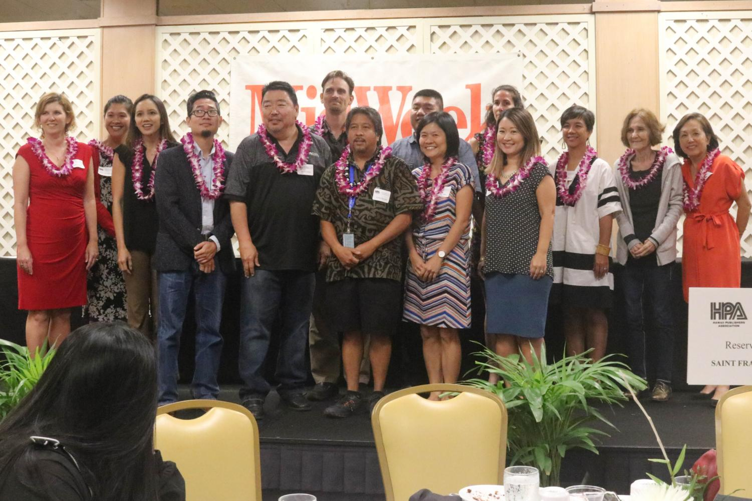 Journalism advisers were recognized at today's Hawaii High School Journalism Awards Banquet.