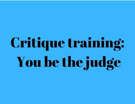Critique training: You be the judge